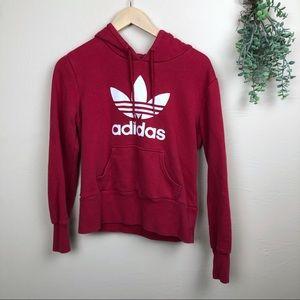 Adidas Originals | Trefoil Logo Red Hoodie